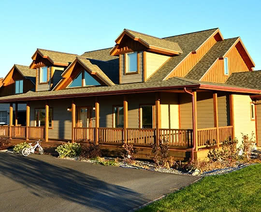 Custom timber frame home in Helena, MT