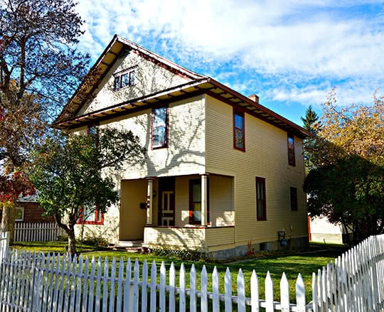 Beautifully painted and restored home in Helena Montana's Historic District
